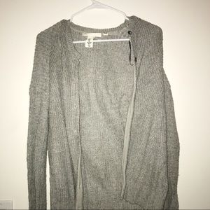 Gray H&M Sweater Cardigan